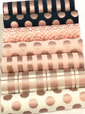 Blush Rose Gold Plaid Double Sided Fabric Sheets