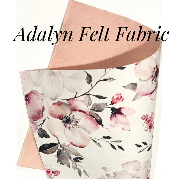 Adalyn Floral Felt Backed Fabric Sheets  - Made to Order