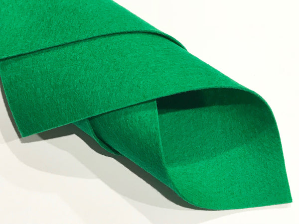 "1mm Emerald Green Merino Wool Felt 8 x 11"" Sheet - No. 70"