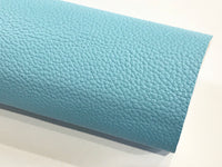 New Stock Light Blue Thick Textured Leatherette Sheet A4 or A5 Size PU Leather Thick 1.0mm Litchi Print Leatherette