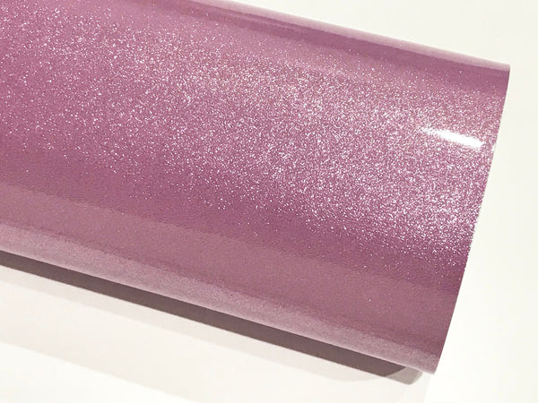 Lilac Gloss Glitter Patent Leather A4 Sheet Mirror Smooth Glitter PU Leatherette
