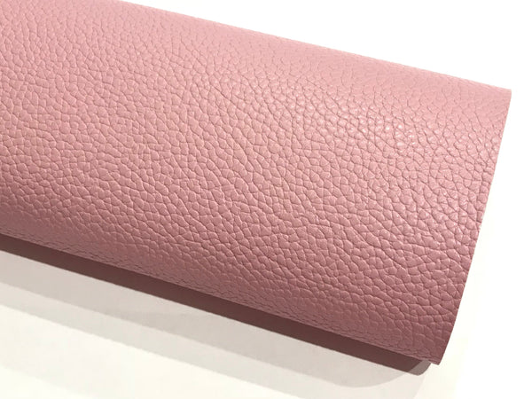 Pastel Pink Leatherette Sheet A4 8X11 or A5 Size Pink Faux Leather Fabric Pink PU Leather Thick 1.2mm Litchi Print Leatherette