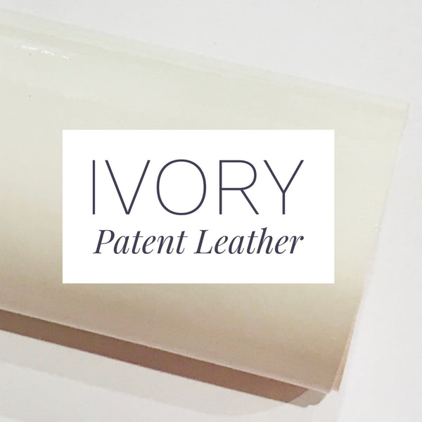 Ivory Patent Leather A4 Sheet Glossy Smooth