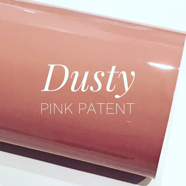A3 Size Dusty Pink Patent Leather - Glossy Mirror Smooth PU Leatherette for Purses, Clutches and Handbags