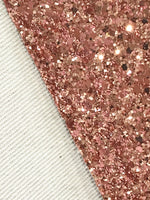 Rose Gold Chunky Premium Glitter Canvas Sheet 0.9mm Thick A4 Size