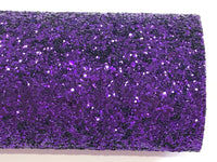 Purple Black Backed Chunky Premium Glitter Canvas Sheet 0.9mm Thick A4 Size