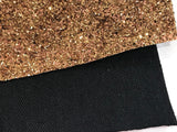 Dark Gold Blacked Backed Canvas Chunky Premium Glitter Canvas Sheet 0.9mm Thick A4 Size