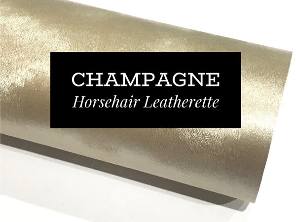 Champagne Gold Horsehair Faux Leatherette
