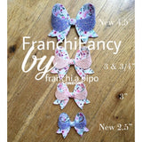 "FranchiFancy 2.5"" and 4.5"" Hairbow Plastic Template - Trace and Cut Template"