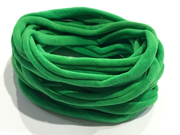 10 Green Nylon Headband Soft Nylon Elastic Headbands Baby Headbands Newborn Headbands Bulk Lot Nylon Christmas Headbands