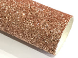 Rose Gold Glitter Fabric Sheet 0.9mm Thick A4 or A5 Sheets Chunky Rose Gold Chunky Glitter fabric