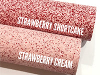 Strawberry Shortcake Chunky Glitter Fabric Sheet