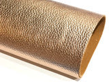 Rose Gold Metallic Leatherette 1.2mm Faux Leather Sheet  A4 -