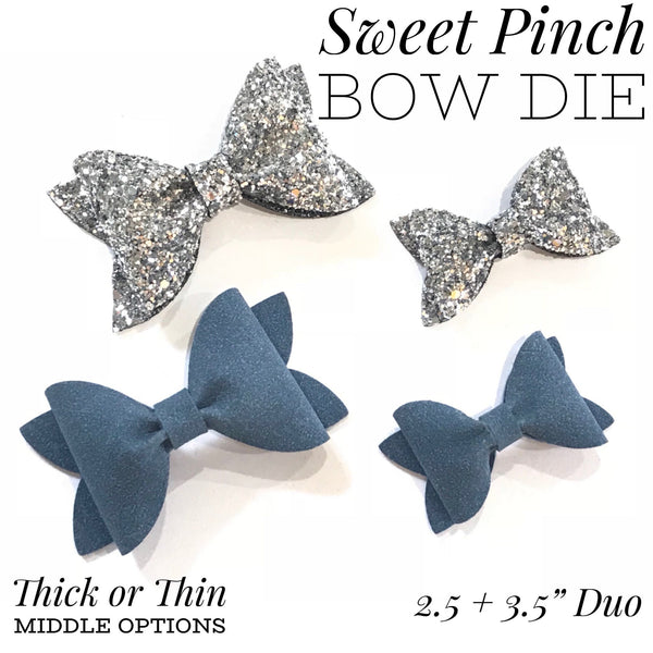 Sweet Pinch Hairbow Duo Trace and Cut Plastic Template
