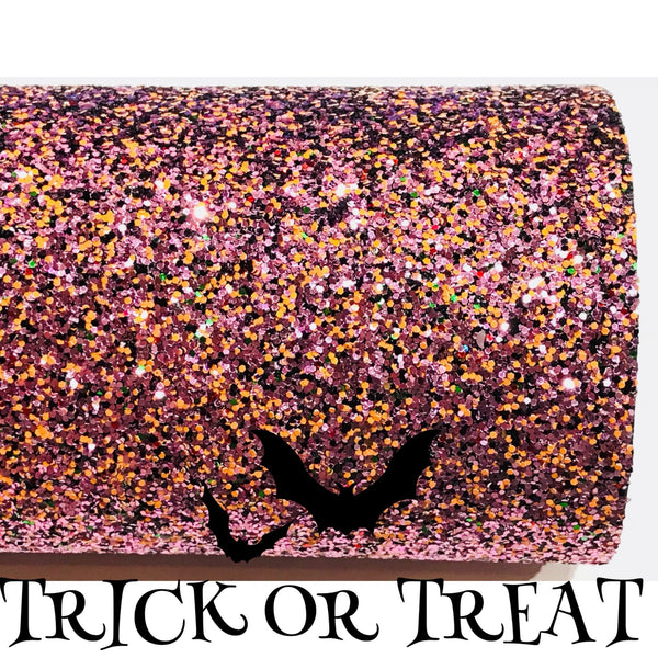 Trick or Treat Halloween Chunky Glitter Fabric A4 or A5 Sheets Halloween Glitter  - Limited Edition
