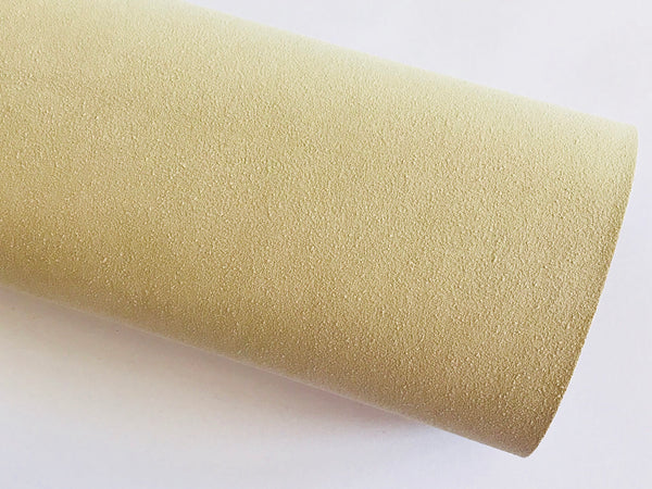 Khaki Faux Suede Leather A4 Sheet