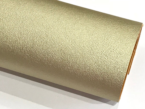 Smooth Gold Faux Leather A4 1.2mm