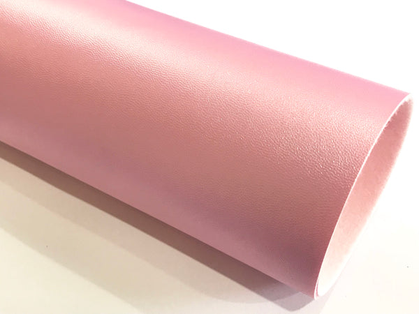 Smooth Lilac Pink Faux 1.0mm Leather fabric A4