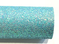 Light Blue Glitter Fabric Sheet 0.9mm Thick A4 or A5 Sheets - Elsa Blue