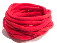 10 Red Nylon Headband Soft Nylon Elastic Headbands Baby Headbands Newborn Headbands Bulk Lot Nylon Christmas Headbands