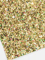 Gold Multicolour Glitter Fabric Sheet 0.7mm Thick A4 or A5 Sheets Chunky Gold Glitter Chunky A4 A5 Sheets