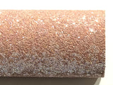 Blush Pink Chunky Glitter Fabric Sheet