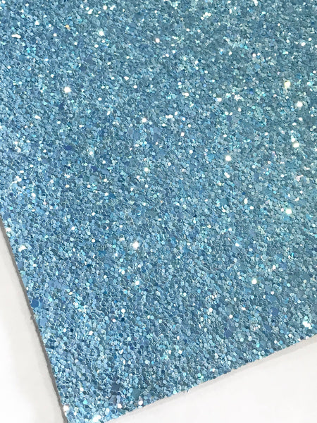 Cinderella Blue Glitter Fabric Sheet 0.9mm Thick A4 or A5 Sheets