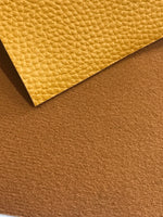 Mustard Thick Textured Leatherette Sheet 1.0mm Thickness A4 or A5 Size Faux Leather Fabric Mustard A