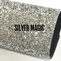 Silver Magic Chunky Glitter Fabric