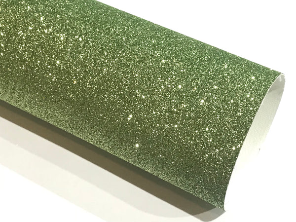 Pale Green Fine Glitter Fabric Sheet A4