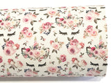 Floral unicorn PU Leather Fabric Sheets  A4