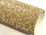 Chunky Gold Glitter Fabric Sheet 0.9mm -1.0mm Thick A4 or A5 Sheets Chunky Gold Glitter Chunky A4 A5 Sheets