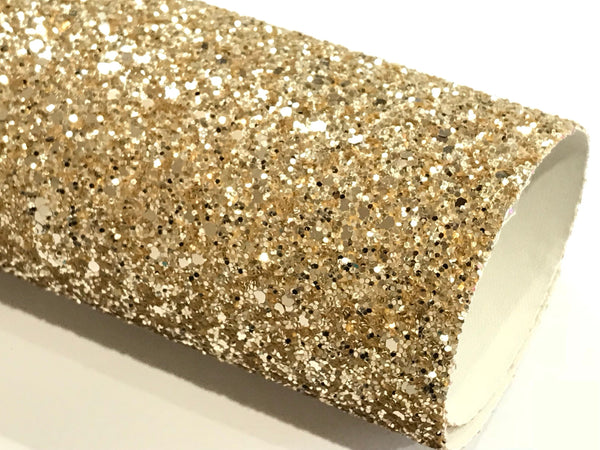 Pale Gold Glitter Fabric Sheet 0.9mm -1.0mm