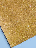Dark Belle Yellow Chunky Glitter Fabric Sheet A5 orA4 Size Yellow Glitter Fabric -  8X11 Glitter Sheet  - Golden Yellow