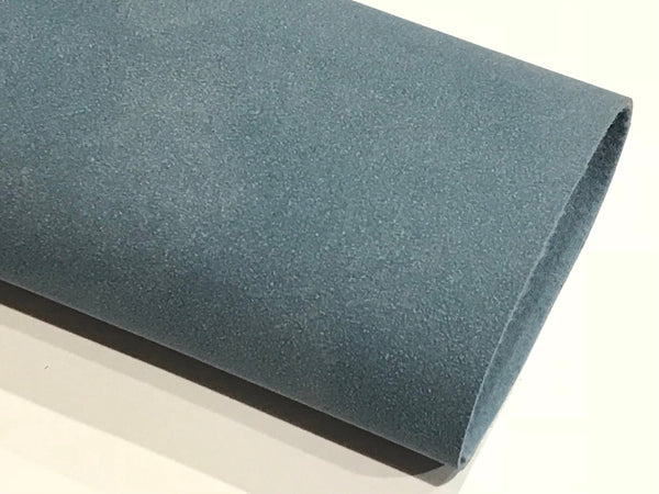 Dusty Blue Faux Suede Leather A4 Sheet