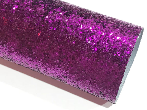 SALE Purple Magenta Chunky Glitter Fabric Sheet 0.7mm Thick