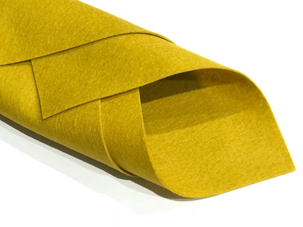 1mm Mustard Yellow Merino Wool Felt A4 Sheet - No. 12