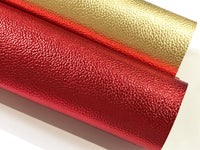 Yellow Gold Metallic Leatherette 1.2mm Faux Leather Sheet  A4 - New Stock