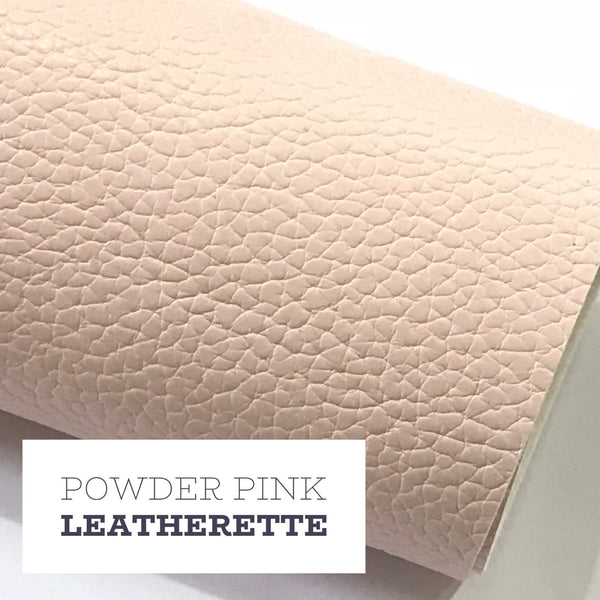 Baby Powder Pink Leatherette Sheet A4 8X11 or A5 Size Pink Faux Leather Fabric Pink PU Leather Thick 1.2mm Litchi Print Leatherette