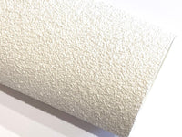 Snow White Chunky Glitter Fabric Sheet 0.8-0.9mm Thick A4 or A5 Sheets A5 orA4 Size pastel White Glitter Fabric -  8X11 Glitter Sheet