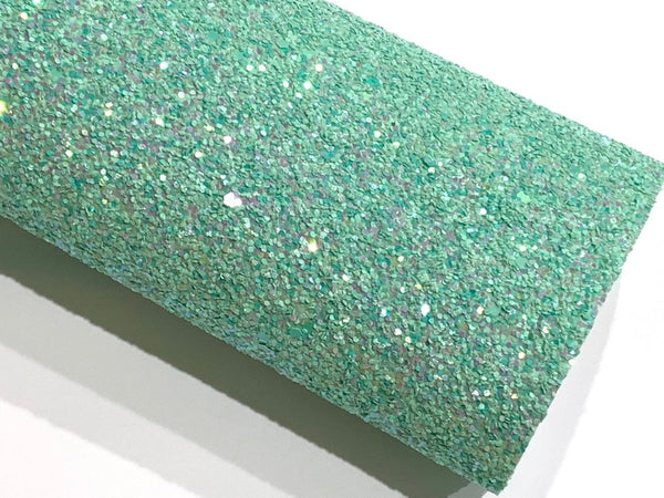 Mint Chunky Glitter Fabric Sheet - Regular Mint Glitter