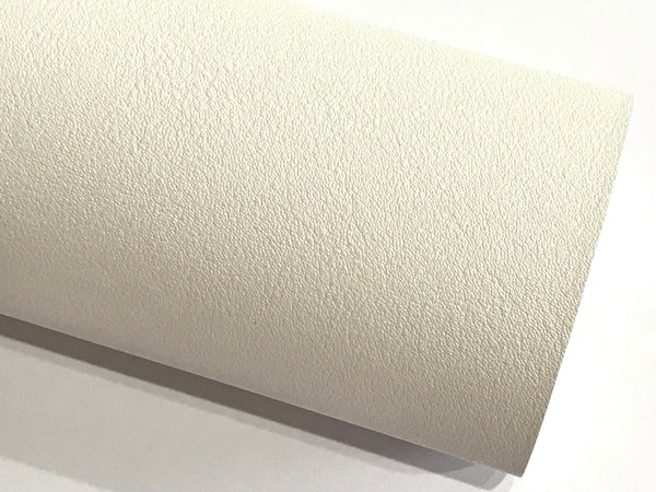 Smooth White Pearl Faux Leather 1.2mm fabric A4