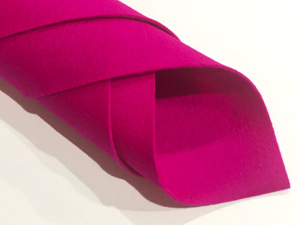 "1mm Magenta Merino Wool Felt 8 x 11"" Sheet - No. 29"