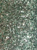 Teal Silver Shimmer Chunky Glitter Fabric Sheet Fabric