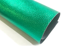 Green Metallic Leatherette 1.2mm Faux Leather Sheet  A4 - New Stock