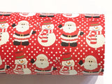 Santa Claus Leatherette Fabric Sheets