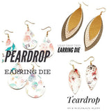 Earring Plastic Template Bundle -  3 Pack of Earring Trace and Cut Templates