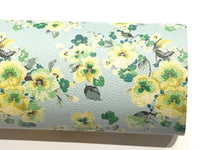 Floral Leatherette A4 Sheet 210 x 297mm Floral Leather Bows Floral Leather Headbands