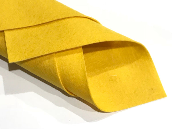 1mm Egg Yolk Yellow Merino Wool Felt A4 Sheet - No. 1