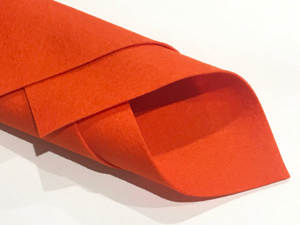 1mm Orange Merino Wool Felt A4 Sheet - No. 5